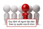 Quy Dinh Ve Nguoi Dai Dien Theo Uy Quyen Cua To Chuc