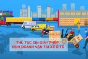 Thu Tuc Xin Giay Phep Kinh Doanh Van Tai Xe O To