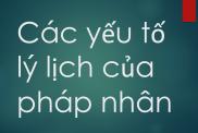 Yeu To Li Lich Cua Phap Nhan