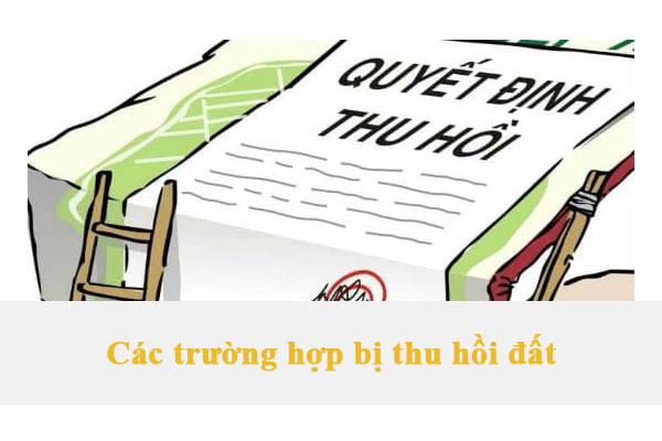 Cac Truong Hop Bi Thu Hoi Dat
