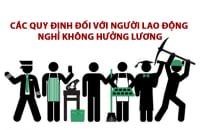 Cac Quy Dinh Doi Voi Nguoi Lao Dong Nghi Khong Huong Luong